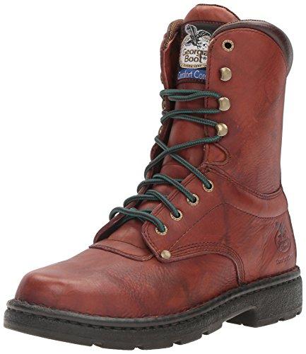 "Georgia Boot Men's Eagle Light 8"" Work Boot,Brown,12 M"