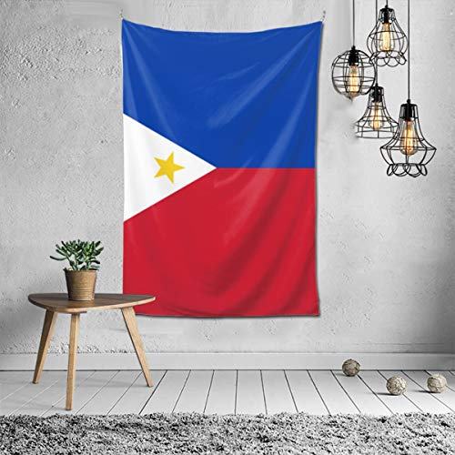 Wbydgoigo Flag of The Philippines Tapestry Wall Hanging (60X40inches) Wall Art Tapestry for Bedroom Home Decor