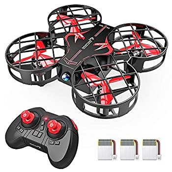 SNAPTAIN H823H Indoor Mini Drone for Kids RC Pocket Quadcopter with Altitude Hold Headless Mode 3D Flip Speed Adjustment and 3 Batteries