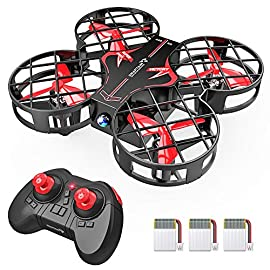 SNAPTAIN H823H Plus Portable Mini Drone for Kids, RC Pocket Quadcopter with Altitude Hold, Headless Mode, 3D Flip, Speed Adjustment and 3 Batteries 4 21 mins flight time: the drone, accompanied with 3 removable and chargeable batteries, triples the flight time up to 21 minutes. A perfect gift to enhance enjoyment and heighten satisfaction! Easy for beginners: The multifunctional toy drone enables kids to handle the Endless pleasures of simple control. Headless mode, altitude hold, one key start/landing/return provide fast access to explore in this wonderful adventure. Having fun: The highly responsive function- 360ºstunt creates impressive performance! There is a low/ medium/high shift speed. Kids can choose a speed according to the operation proficiency. SNAPTAIN makes perfect little pilots!