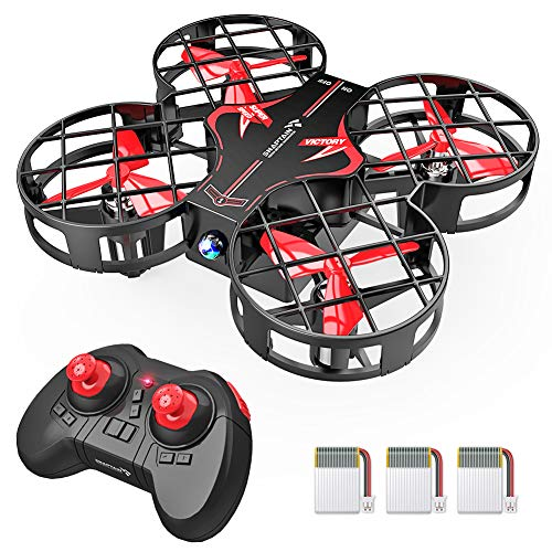 SNAPTAIN H823H Indoor Mini Drone for Kids, RC Pocket Quadcopter with Altitude Hold, Headless Mode, 3D Flip, Speed Adjustment and 3 Batteries