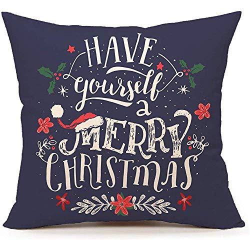 WEURIGEF Machen Sie Sich EIN frohes Weihnachtsfest Dekokissen Abdeckung Kissenbezug für Sofa Couch 45 * 45cm