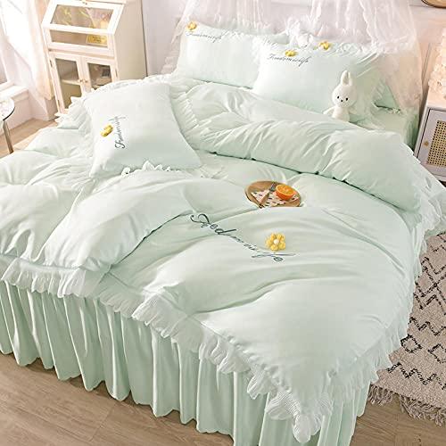bettwäsche baumwolle,Conjunto de verano de seda de lavado de agua de mujeres adolescentes cuatro conjuntos de ropa de cama de verano-Esconder_1,8 m la cama (4 piezas) (20 series de 200x230cm)