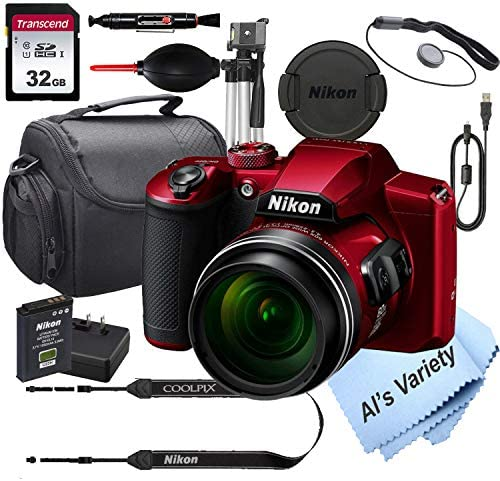 Nikon COOLPIX B600 RED 16 7 MegaPixel Digital Camera 32GB Card Tripod Case and More 13pc Bundle product image