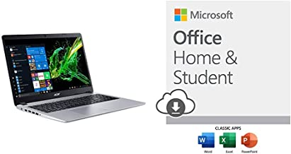 Acer Aspire 5 with Microsoft Office Home and Student 2019 Download   1 person, Compatible on Windows 10 and Apple macOS