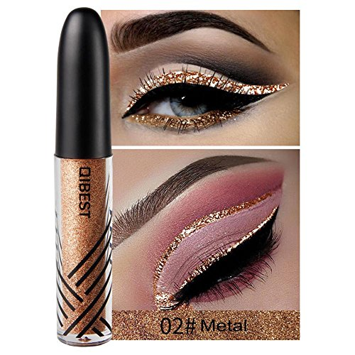 Eyeliner Stift Glitzer Glänzende Bunte Eyeliner Pailletten Flashings Wasserdichte Silber Gold Metallic Liquid Glitter Eyeliner Für Party, Cosplay, Maskerade