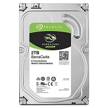 Seagate 2TB BarraCuda SATA 6 Gb/s 7200 RPM 64MB Cache 3.5 Inch Desktop Hard Drive (ST2000DM006)