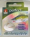 VMC Perfect Zander Einzelhaken rot Zanderhaken , Hakengröße:2