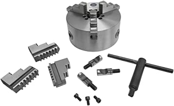 MH GLOBAL 6 Inch Lathe Chuck 3 Jaw Self Centering Scroll D1-4 Direct Mounting 6 Jaws Included