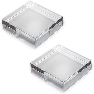 Mirart Clear Acrylic Cube (3 x 3 x 1 (2 Pack))