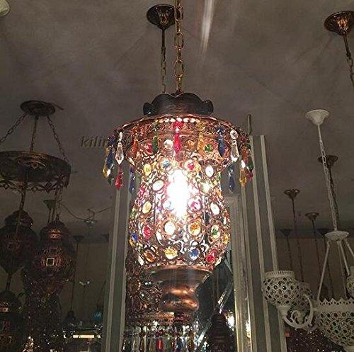 Lampade a sospensione luci da ristorante in ferro battuto cristallo Bohemia Sud-Est asiatico fatto a mano ingegneria creativa LU726243