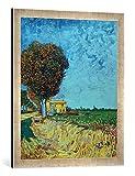Kunst für Alle '–Fotografía enmarcada de Vincent Van Gogh Avenida en Arles con Casas, de impresión...