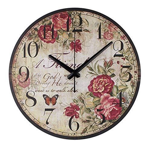 rrff Relojes De Pared Reloj De Pared Decorativo Vintage Sile