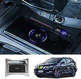 WY-CAR Cargador Inalámbrico Automóvil para Nissan X-Trail 2015-2019, Carga Rápida Accesorios Coche, 10W Cargador Inalámbrico Rápido para iPhone Samsung