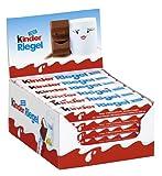kinder Riegel - 36 Einzelriegel, einzeln verpackte Schokoriegel, zartschmelzende Vollmilchschokolade...