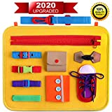 Giftinthebox Toddler Busy Board, Montessori Toys Basic Skills Board for Toddlers Learning Dress, Educational Learning Toys for 1 2 3 4 5 Year Old Toddlers, Toddler Travel Toys