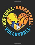 Softball Basketball Volleyball: Volleyball Student Planner, 2020-2021 Academic School Year Calendar Organizer, Large Weekly Agenda (August - July)