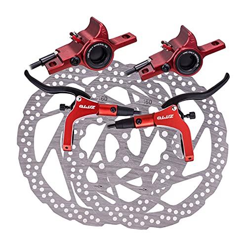 perfeclan Bicicleta de Montaña Hidráulico Freno, MTB Freno de Hidráulico Pinzas Traseras...