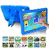 Tablet Bambini 9.0 Pollici con Wifi Offerte Android 9.0 Certificato Google GMS 3GB RAM 32GB/128GB Tablet PC in Offerta OTG 1.5GHz Quad Core 6000mAh Tablet Android con Giochi Educativi Netflix(Blu)