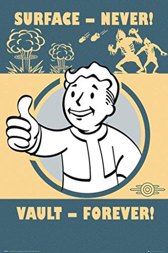 Fallout 4 - Vault Forever Unisex Poster Multicolor Papier 61 x 91,5 cm Bethesda, Fan-Merch, Gaming