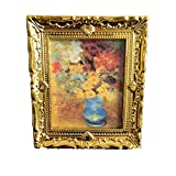 Beito Miniatur-Malerei 01.12 Puppenstuben Gemälde Blumenvase...
