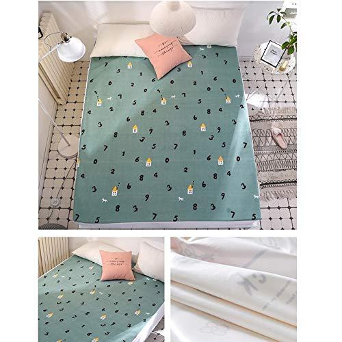 Katoen en Polyester Waterdichte Bed Sheet Matrashoes met Elastische Band Koning Queen Volledige Twin Size Hoeslaken 200x220cm A