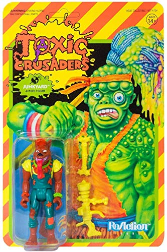 Super7 Toxic Crusaders ReAction Action Figure Wave 1 Junkyard 10 cm Avenger