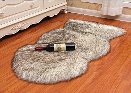 N-B Luxury Fluffy Rug Bedroom Furry Rug Bedside Faux Fur Sheepskin Area Rug Kids Play Princess Room Decorative Rug