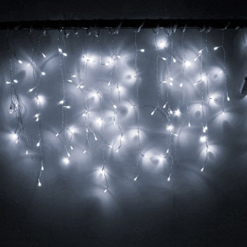 Creatieve slinger LED gordijn ijspegels licht 220 V 4,5 m 100 LED binnenlifting LED Party tuin podium buiten decoratief licht wit
