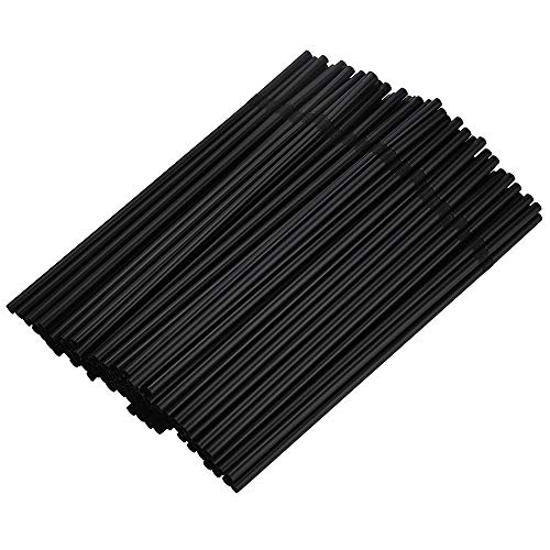 Btruely 100 Jumbo Strohhalme Shakehalme Kunststoff schwarz 24cm 6mm. strohhalm Plastik. strohhalm. trinkhalme Plastik. trinkhalme. strohhalme Plastik. plastikstrohhalme. Plastik strohhalm (Schwarz)