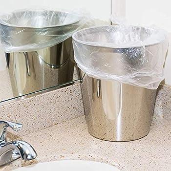 clear small bathroom trash bags
