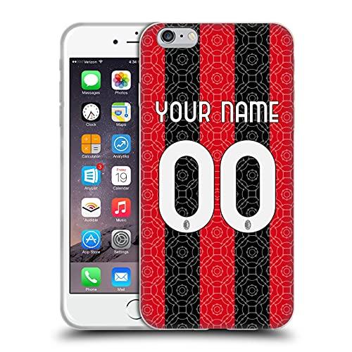 Head Case Designs Licenza Ufficiale Personalizzata Personale AC Milan Home 2020/21 Kit Cover in Morbido Gel Compatibile con Apple iPhone 6 Plus/iPhone 6s Plus