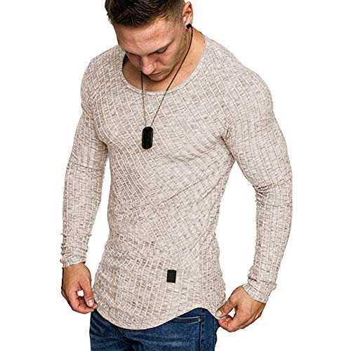 lexiart Mens Fashion Athletic T-Shirt Casual Sport Pullover Solid Color Sweatshirt
