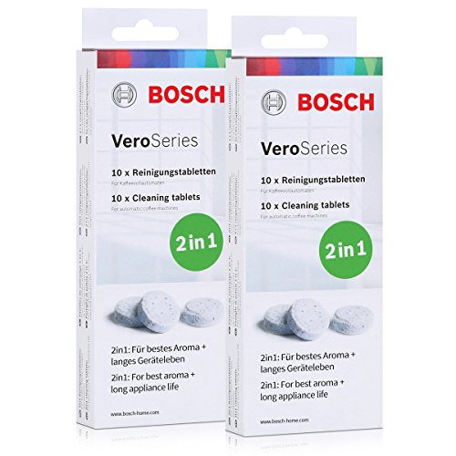Bosch VeroSeries TCZ8001 Reinigungstabletten 2in1-10 Tabletten (2er Pack)
