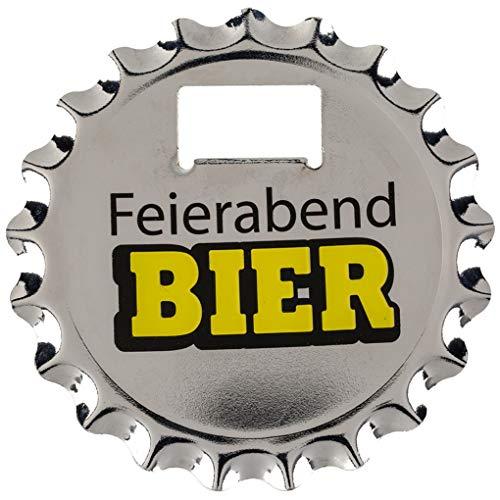 Flaschenöffner Bieröffner & Untersetzer Bierdeckel mit Magnet »Kronkorken« 10cm (Feierabend-Bier)