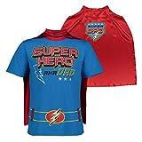 Funstuff Camiseta con Capa de Papá Superhéroe para el Día del Padre para Hombre, Azul (Grande)
