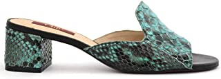 Chic Luxury Luxury Real Snake Leather Mule Sandals