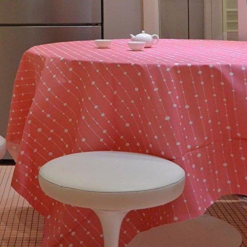 Nappe Ovale anti-tache imperméable 160x200cm Perle Rose par Fleur de Soleil - coton enduit - sans solvant - sans phtalate - 100% fabrication française