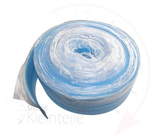 Deine-Kleinteile-24 Randdämmstreifen m. Lasche, Fußboden Fußbodenheizung Folie Randstreifen Iso (ab 0,60 €/m)