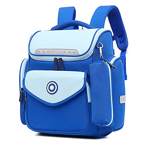 YIXIN 5 – 16 anni, borsa da scuola in nylon traspirante e leggero, comodo zaino multi-tasca per studenti borsa sportiva adatta per ragazzi, Blu, Taglia unica,
