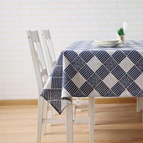 LDONGPENG LD&P Japanse stijl retro katoen linnen tafelkleed machine wassen, diner, zomer en picknick tafelkleden