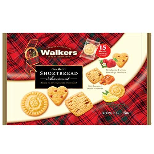 ウォーカー Walkers フレーバーアソート #1854 ソルテッドキャラメル レモン ミニハートストロベリー 1袋 170g
