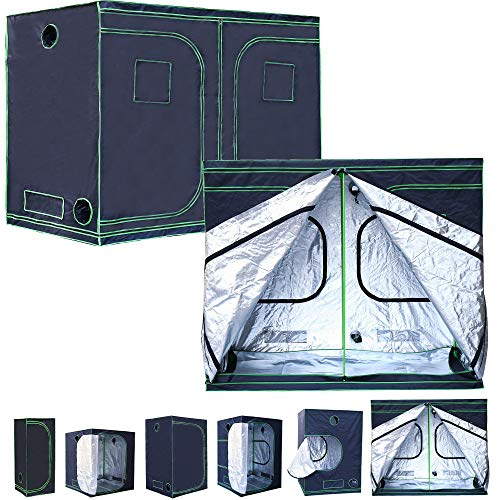 Rapid Teck® Grow Zelt (200 x 200 x 200 cm) Home Grow Tent | Indoor Growzelt | schwarz grün | Growroom Growschrank Darkroom Pflanzenzelt Gewächshaus Zuchtzelt Growzelt
