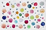 Vilber Kids Dots Alfombra, Vinilo, Multicolor, 100x153x0.2cm