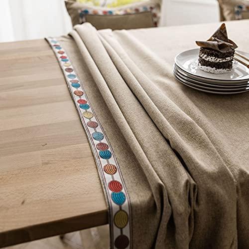 Mantel de Lino y algodón de Estilo nórdico Mesa de Comedor Cubierta de Mesa de Centro Restaurante Banquete decoración de Cocina Y 140x200cm