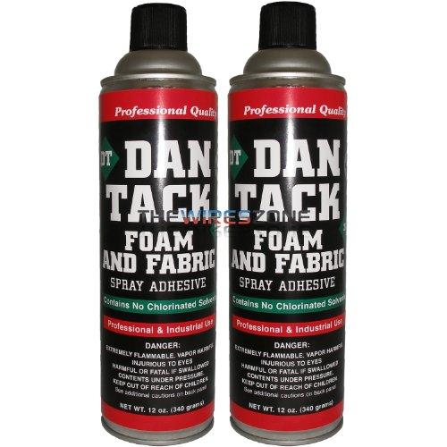 Dan Tack 2012 Professional Quality Foam & Fabric Spray Adhesive Can 12 oz (Pair)