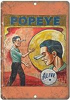 ポパイティンサイン壁の装飾金属ポスターレトロプラーク警告サインオフィスカフェクラブバーの工芸品