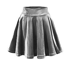 Urban GoCo Mini Falda Elástica Patinadora de Terciopelo de Retro ...