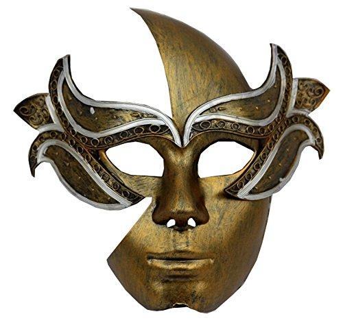 Or antique Masque Halloween Party Masque pour fête costumée Cosplay masque
