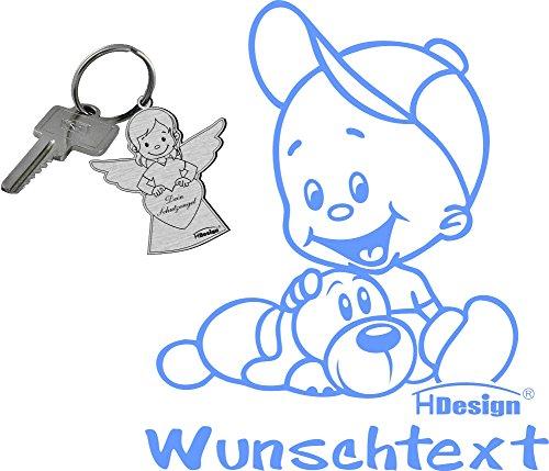 Babyaufkleber mit Wunschtext M-13 inkl. Schlüsselanhänger TH-Design®